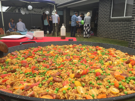 Last weekend's Sydney paella catering events