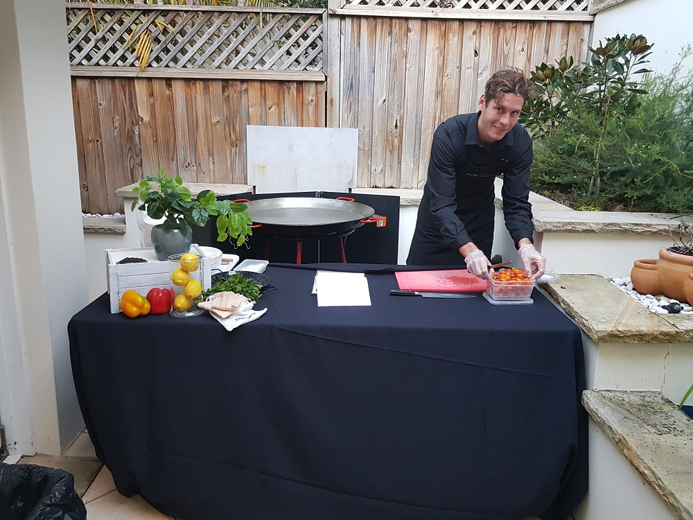 Paella Catering in Balgowlah on Sydney's Northern Beaches.