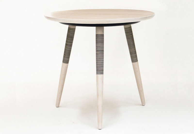 Tebori Table - Tripod Side Table Bleached Maple Black