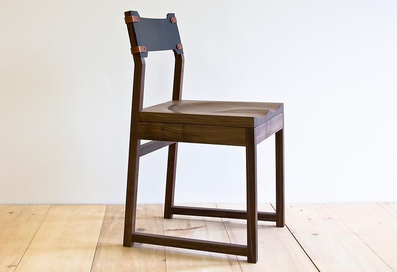 Tab Dining Chair - Black Walnut