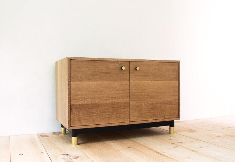Proper Cabinet - Oak Credenza Brass Black Modern 1