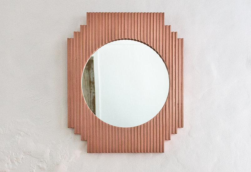 Fluted Mirror - Geometric
