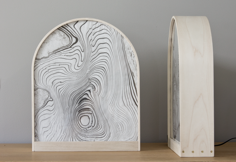 Sumi Arch Lamp - Bleached Maple