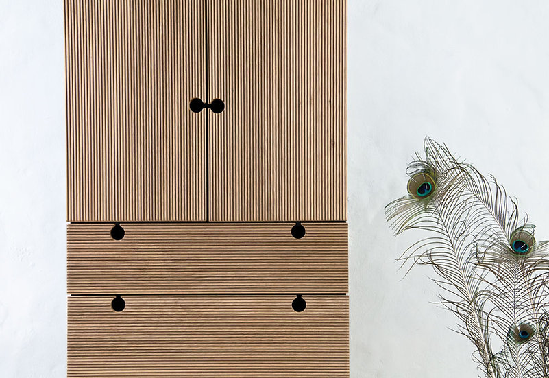 Fluted Tall Cabinet