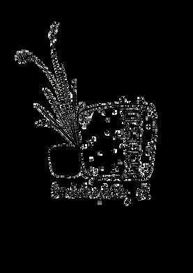 Logo des Bordsteinlobby e.V. - gezeichneter Bordstein mit einer Strickleiter, links daneben Grashalme, die aus der Lücke zwischen Straße und Bordsteinkante wachsen.