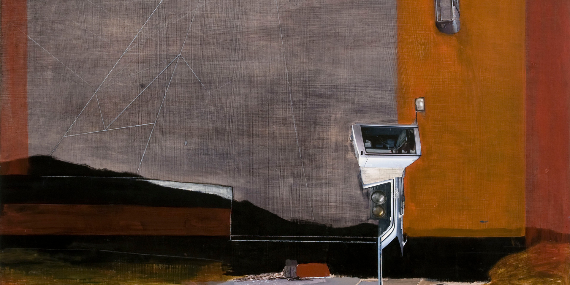 "48""x 48"" Acrylic and  Collage on wood panel 2010-11"