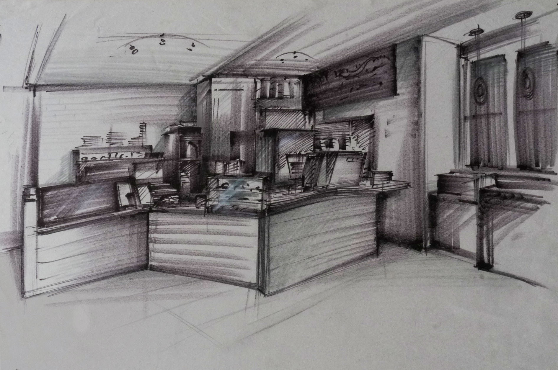 On-site Perspective Sketching