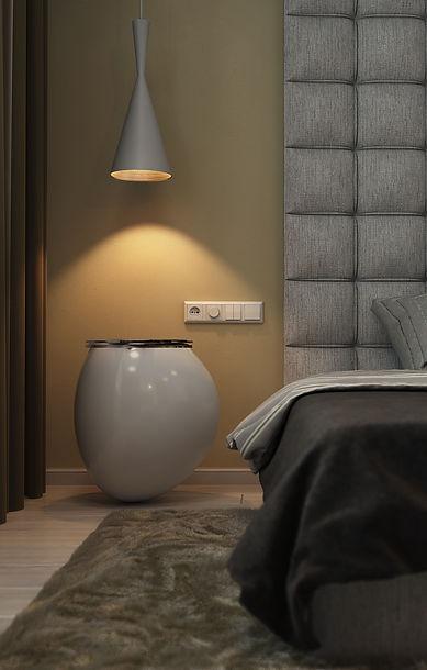 detaliu noptiera dormitor design interior ovidiu marian