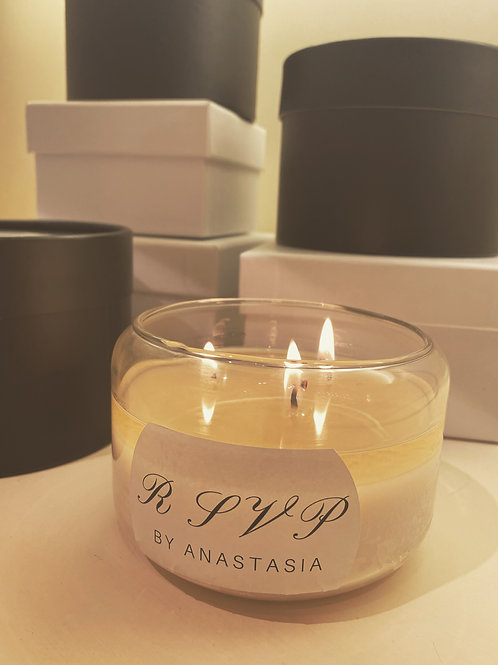 Deluxe Rose Scented Soy Candle
