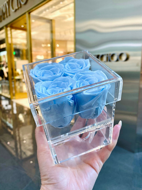 Four Rose Box with Drawer