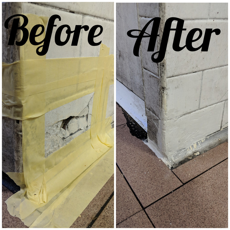 Large Cracked Tile Repairs