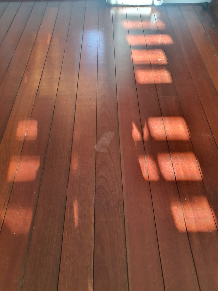 Natural Australian Hardwood Peeled Coating - Before