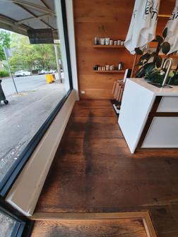 Before Engineered Floor - Clear Coat