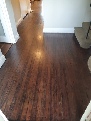 Stained Pine Flooring Repair - After