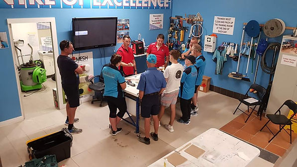 Konig Australia Surface Repair Training. We train customers how to repair damaged tiles, stone benchtops, timber floors, furinture and more.