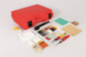 The Ceramic Repair kit allows the user to repair damaged chips and scratch on tiles. The 20 colour of ceramic filler can be intermixed to achieve to blend the damage into the rest of the tile.