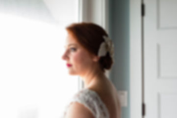 photo taken by Katiedid Photography of an obx bride right before her wedding. Outer Banks wedding photographer