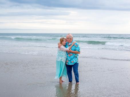 50th Anniversary Beach Portrait Session   Corolla, NC