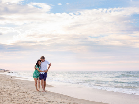 Outer Banks Engagement Session at Jennette's Pier, Nags Head