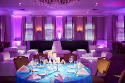 Uplighting and lounge furniture