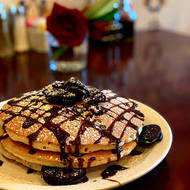 Chocolate Chip and Oreo Cookie Pancakes