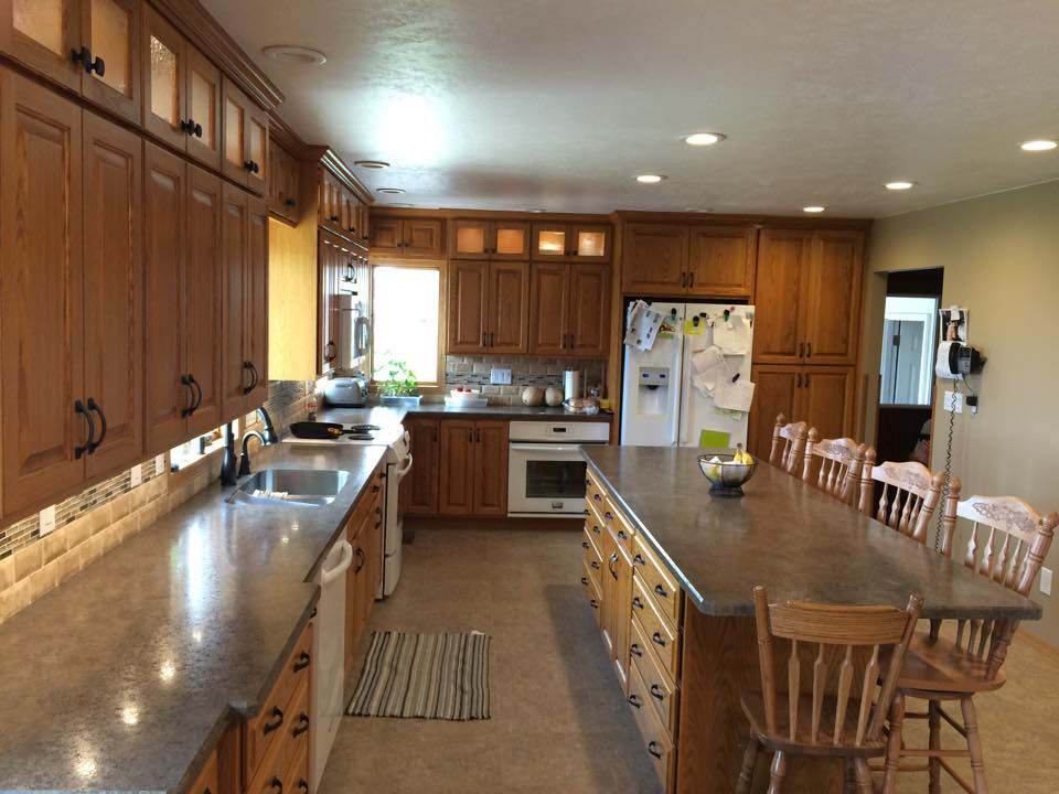 Custom Oak Cabinets
