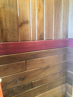 Purple heart and Black Walnut Woodwo