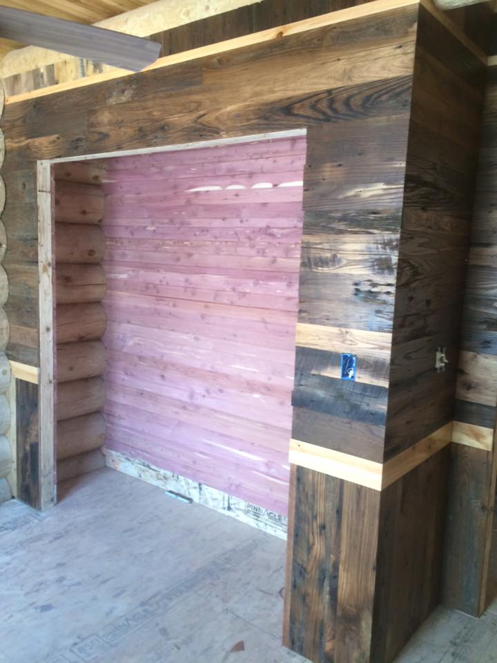 cedar closet with chestnut and cyprus
