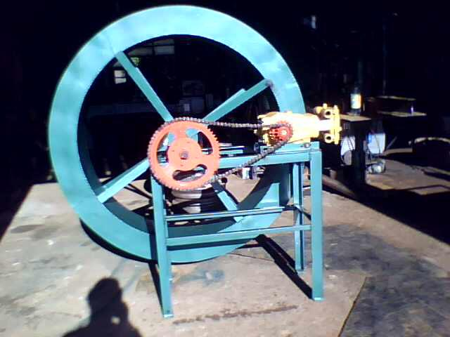 Roda dagua para bombeamento