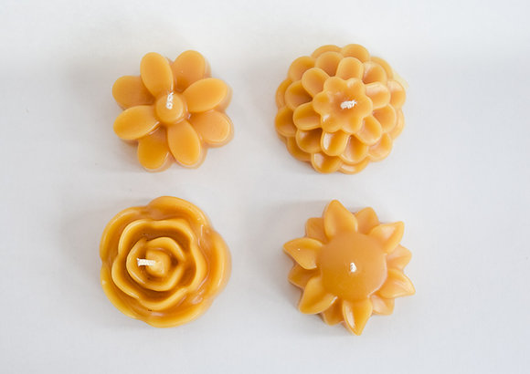Floral Beeswax Tealights