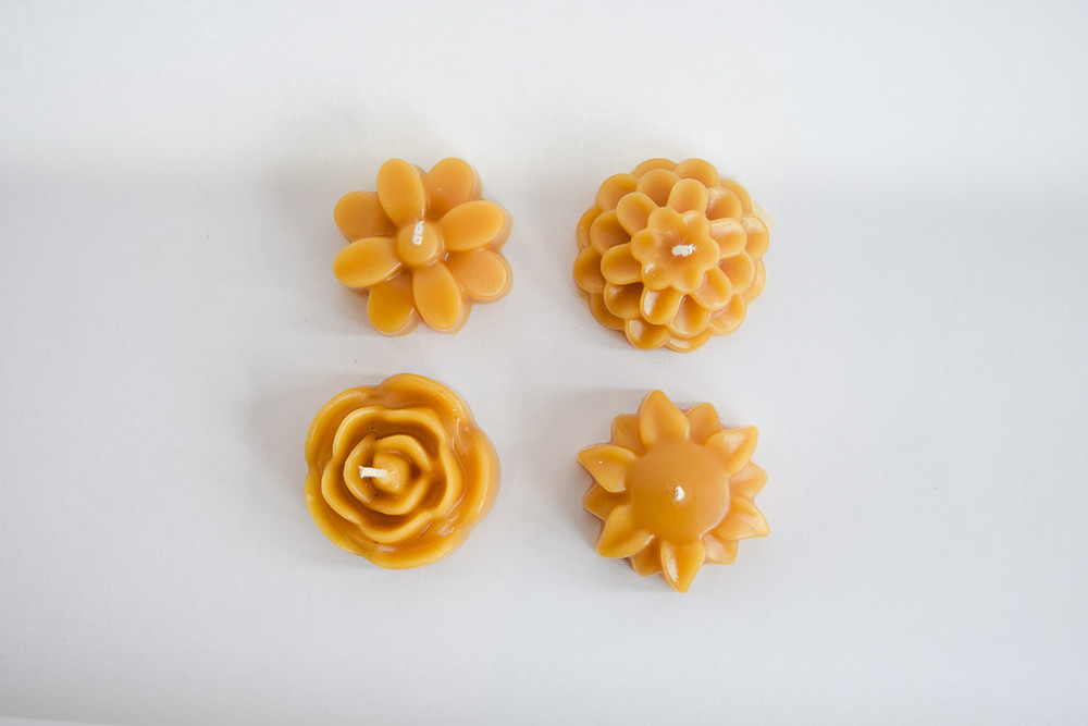 beeswax flower candle