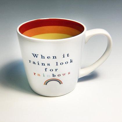 When it Rains Look for Rainbows Mug