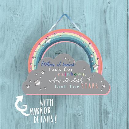 Look For Rainbows, Wooden Plaque
