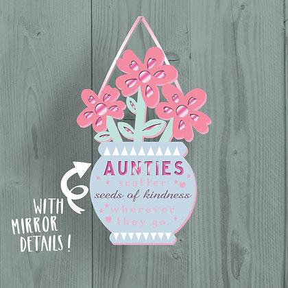 Aunties Wooden Plaque