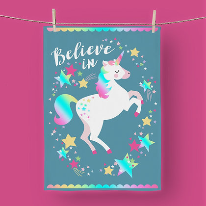 Believe In Unicorns, Tea Towel