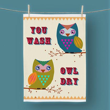 You Wash Owl Dry, Tea Towel