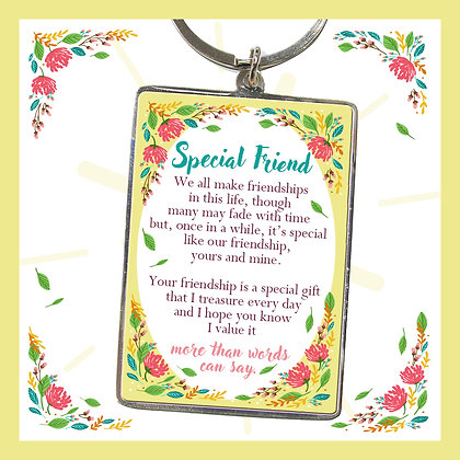 Special Friend Keyring