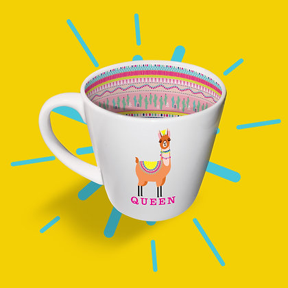 Llama Queen Mug