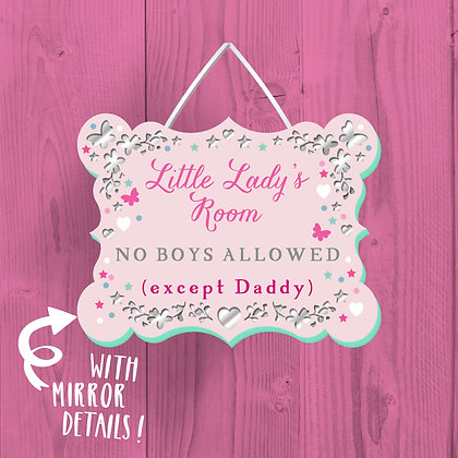 Little Lady's Room, Wooden Plaque