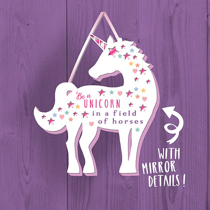 Be A Unicorn, Wooden Plaque