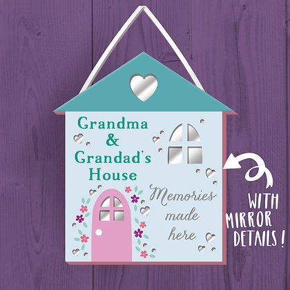 Grandma And Grandad's House, Wooden Plaque