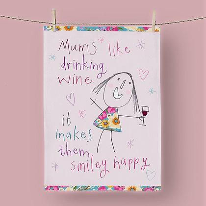 Mums Like Wine, Tea Towel