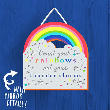 Count Your Rainbows, Wooden Plaque