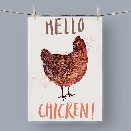Hello Chicken, Tea Towel