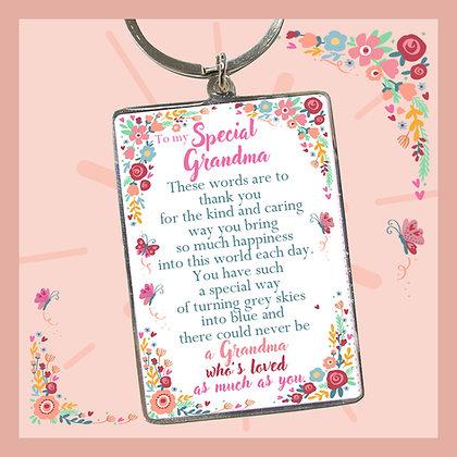 To my Special Grandma Keyring
