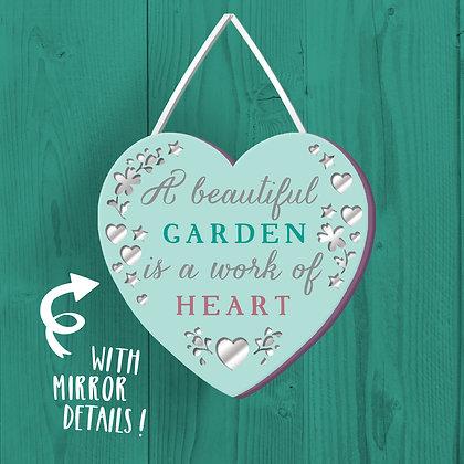 A Beautiful Garden, Wooden Plaque