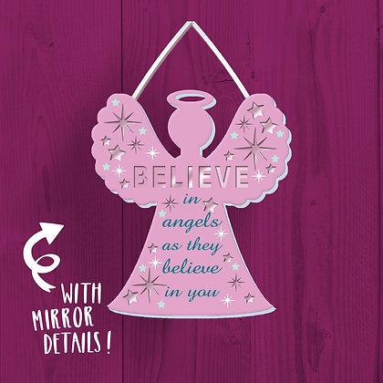 Believe In Angels Wooden Plaque