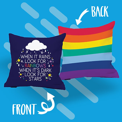 When It Rains Look For Rainbows Cushion