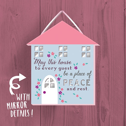 Home Peace, Wooden Plaque