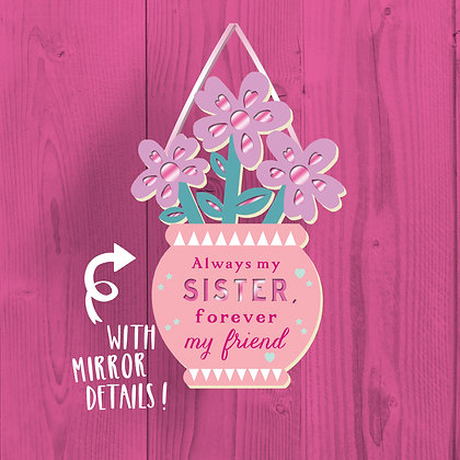Sister, Wooden Plaque